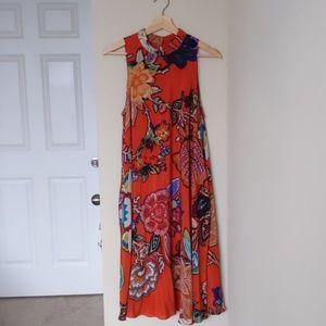 Anthropologie 100% Silk Midi Dress